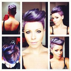 Purple Hair, Shaved Sides