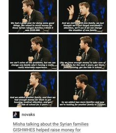 donate here: https://www.crowdrise.com/change-a-life-khoulouds-story/ supernatural cast tumblr textpost misha collins gifset minncon 2016 conventions gishwhes random acts or kindness