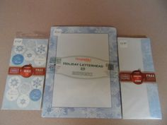 CHRISTMAS LETTERHEADS,ENVELOPES,SEALS-SNOW FLURRIES DESIGN. NEW IN PACKAGE