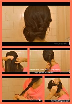 how to rope braid hairstyle look, no heat  -  medium long hair. ( tag wedding hairstyles, homecoming, prom, formal, casual)    #hairstyles #hair #hairtutorial #updos #updo #hairstyle #braid #longhair #mediumhair #wedding #bridal #curls #hairtutorial #hairdos #peinado #coiffure #bridesmaid #hairdo #prom #homecoming #formal #party #chignon #bun #ropebraid #braid by Kelseyy