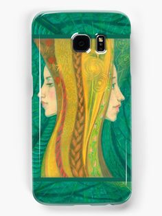 """""""The Summer, dryads, forest fantasy, green & yellow"""" Samsung Galaxy Cases & Skins by clipsocallipso 