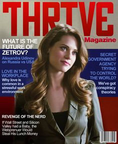Alexandra Udinov graces the cover of Thrive Magazine.  Don't miss the season premiere of Nikita Oct. 19!