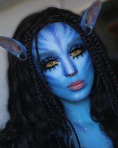 Amazing Halloween Makeup, Halloween Eyes, Halloween Makeup Looks, Makeup Fx, Makeup Eyes, Avatar Makeup, Avatar Halloween, Creative Makeup Looks, Special Effects Makeup