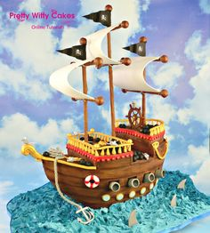 Pretty Witty Cakes pirate ship tutorial