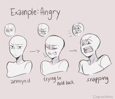 IFTTT Wut wütend Emotionen Mimik Art Tutorial Art tutorial e… Drawing Reference Poses, Drawing Poses, Manga Drawing, Drawing Tips, Drawing Ideas, Drawing Meme, Female Drawing, Sketching Tips, Drawing Cartoons