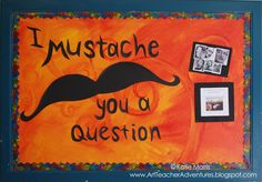art teacher boards   Dali's Mustache Bulletin Board
