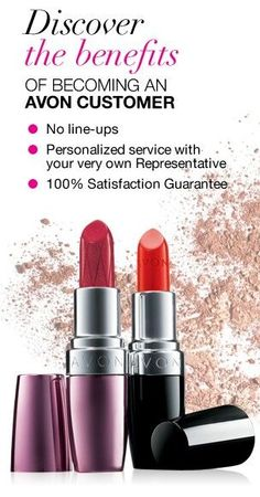 LOVE AVON...Shop with me 24/7 @ www.youravon.com/mhamilton39. Spend $40 get FREE shipping to your home. Spend $50 use code WELCOME, AVONFB20 or AVONSAVE20 to get 20% off your direct delivery purchase (only 1 code per use at a time) Register your Email with me and get 10% off your next purchase...Avon offer's a 100% money back guarantee on everything. Thanks so much and Happy Shopping!
