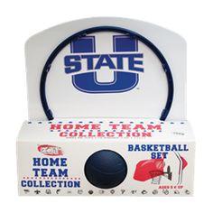 UTAH STATE BASKETBALL HOOP SET