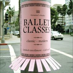 ballet classes advertisement