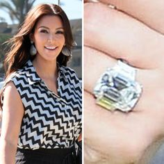 Kim Kardashian's ex proposed with a 20.5 carat emerald cut center stone flanked by a pair of 2 carat trapezoids. https://www.facebook.com/SpitzJewelers