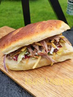 Norwegian Food, Norwegian Recipes, Cottage Cheese, Pulled Pork, Baguette, Bread Recipes, Sandwiches, Food And Drink, Snacks