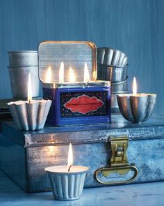 Candles in Jars & Tins