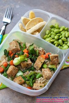 Lunchbox Stir Fry Recipe recipe from Cooking with Trader Joe's @EasyLunchboxes Cookbook photography http://MarlaMeridith.com