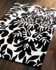 damask rug. I love this rug! Damask is one of my all time favorite prints!