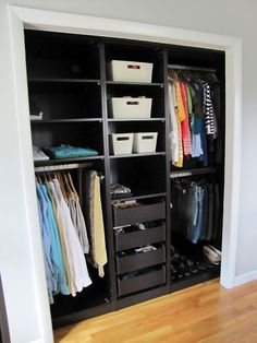 Maxed-out closet. Need every bit of space we can get - Ikea PAX system to the rescue!