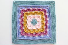 [Free Pattern] Really  Simple Pattern With Stunning Results: Yarn Clouds Square Crochet Motifs, Crochet Blocks, Granny Square Crochet Pattern, Crochet Squares, Crochet Granny, Crochet Yarn, Crochet Stitches, Crochet Patterns, Granny Squares