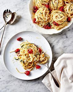 Spaghetti con Limone with Blistered Cherry Tomatoes - F for Food: The Last Detail