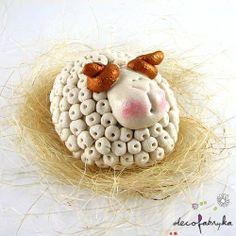 salt dough Salt Dough Projects, Salt Dough Crafts, Salt Dough Ornaments, Clay Ornaments, Clay Projects, Clay Crafts, Easter Crafts, Christmas Crafts, Sheep Crafts