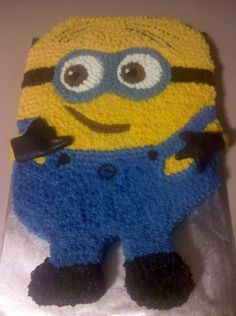 despicable me cake   Despicable Me Minion Birthday Cake by ~missblissbakery on deviantART