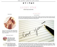 Premade Blogger Template  LUCKY STAR  Pinterest by LisasMenagerie, $35.00