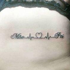 Resultado de imagem para tattoo mãe e pai                                                                                                                                                                                 Mais