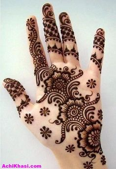 Mehndi Designs for Girls for Wedding Day, Rasm e Henna Day , Party Days , Eid Days and any day.... for more images visit our website www.AchiKhasi.com