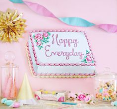 """""""Happy Everyday"""" cake plaque from Everyday is a Holiday"""