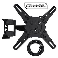 Cattail CTL-T-02 TV Wall Mount for 32-55 Inch Plasma LED LCD TV With Full Motion Swing Out Tilt and Swivel Articulating Arm VESA 400400mm Loading Capacity 88 lbs Includes 4.9 ft HDMI cable