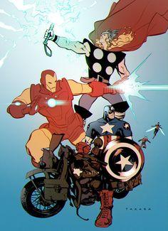 The Avengers by Marcio Takara