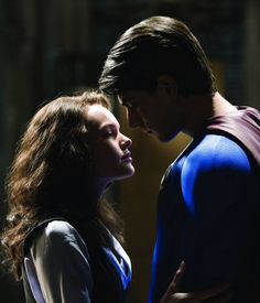 "Brandon Routh y Kate Bosworth en ""Superman Returns"", 2006"
