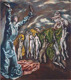 El Greco (Domenikos Theotokopoulos) (1541–1614)    dark-light-composition painter