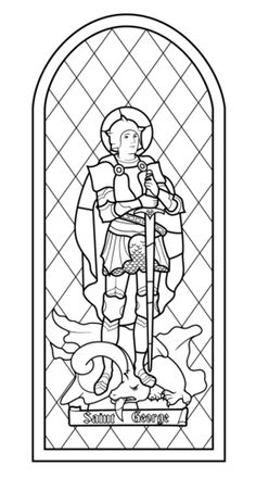 Saint George Stained Glass Coloring page