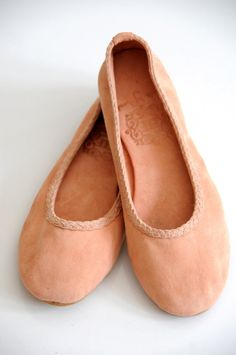 eva ballet flats in peach by bali elf