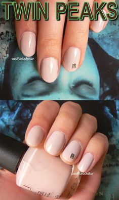 Twin Peaks nail art, Laura Palmer themed nails