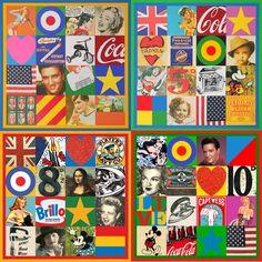 Peter Blake Collage of Collages - pop art, England, UK, USA Banksy Prints, Peter Blake, Pop Art Movement, Pop Culture Art, Collage Artists, Collages, Gcse Art, Cultura Pop, Retro Art