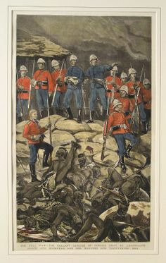 THE ZULU WAR - THE GALLANT DEFENCE OF RORKES DRIFT BY LIEUTENANTS CHARD AND BROMHEAD AND ONE HUNDRED AND THIRTY-SEVEN MEN
