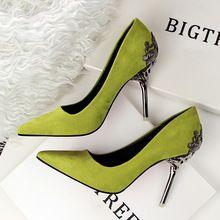 Bigtree marca flor de Metal alto moda sapatos de salto alto mulheres bombas 2016 casamento sapatos de salto alto mulheres senhoras Sexy sapatos(China (Mainland))