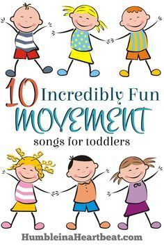 Ready for a dance party? Or maybe your toddler just really needs to get the wiggles out? Here are 10 fun movement songs you can play for them… Gross Motor Activities, Infant Activities, Dance Activities For Kids, Preschool Physical Activities, Learning Activities, Toddler Activities For Daycare, Music Therapy Activities, Toddler Daycare, Preschool Gymnastics