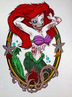 Zombie Ariel - The Little Zombie Mermaid