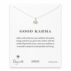 good karma lotus necklace, sterling silver - Dogeared