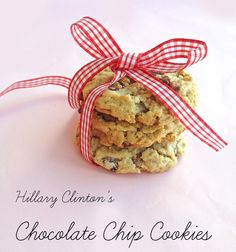 Hillary Clinton's Chocolate Chip Cookies #recipes #Hillary2016