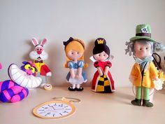 Pokopous super cute alice in wonderland kawaii felt mini dolls to make or buy and love