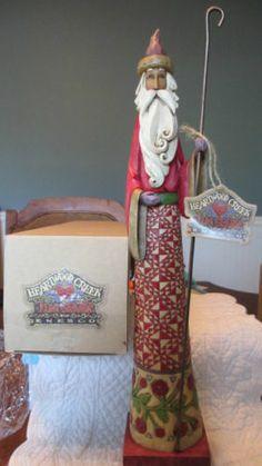 "New RARE 2004 Jim Shore Heartwood Creek ""Gathering Joy"" Santa w Cane Figurine | eBay"