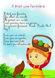 comptine-paroles-fermiere French Poems, French Quotes, French Education, Kids Education, Material Didático, French Kids, Future Jobs, Kids Board, Teaching French