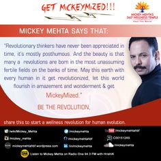 """#GetMickeyMized:  """"May this earth with every #human in it get revolutionized, let this world flourish in amazement and wonderment & get #MickeyMized.""""  #quote"""