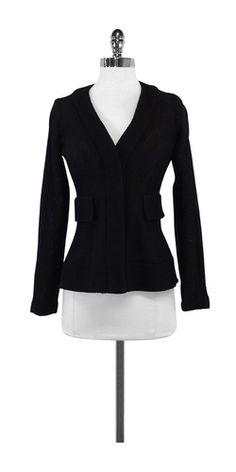 Nanette Lepore Black Woven Nylon Jacket