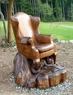 ....nicely carved chair....