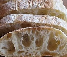 Homemade ciabatta bread recipe: today we will see how to make ciabatta bread … - Chef HELEN LOG Croatian Recipes, Italian Recipes, Homemade Ciabatta Bread, Tuscan Bean Soup, Savory Scones, Arancini, Bread Recipes, Food And Drink, Cooking