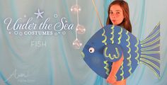 Kids cannot face sideways for the entire show.  But another idea would be to hang it around their neck so people could see it from the front.  Found at: http://alphamom.com/family-fun/holidays/fish-costume-kids-under-the-sea/
