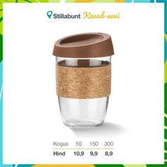 Klaasist kohvitops 380 ml. Lisandub KM. Travel Mug, Mugs, Tableware, Dinnerware, Tumblers, Tablewares, Mug, Dishes, Place Settings